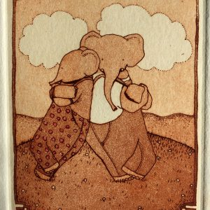Every body needs somebody to lean on, etching, Harriet Brigdale