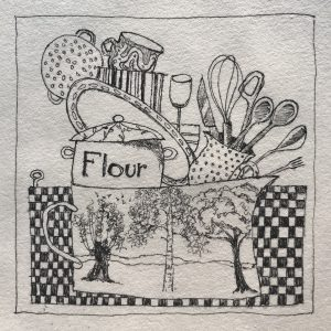 Harriet Brigdale Flour and washing up