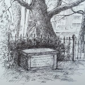 St Pancras Old Church, Drawing, Harriet Brigdale, Artist