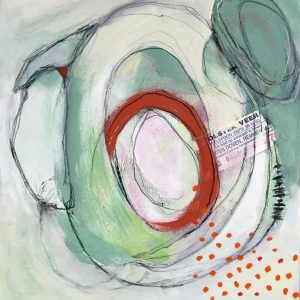 Small red marks, Abstract, Harriet Brigdale, Artist