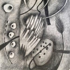5 lefthand shapes, Drawing, Harriet Brigdale, Artist