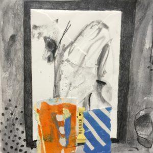 Envelope and ticket, Drawing, Harriet Brigdale, Artist