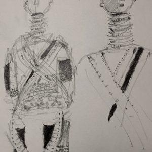 African doll, Drawing, Harriet Brigdale, Artist