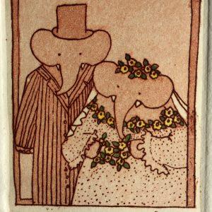 Love you forever, etching, Harriet Brigdale