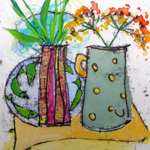 Mixed media still life, Harriet Brigdale, Artist