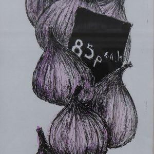 Borough market figs, litho, Harriet Brigdale, Artist