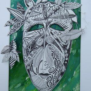 Cut out mask, Harriet Brigdale