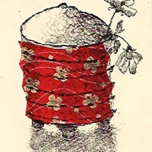 Small pot red,Harriet Brigdale,litho