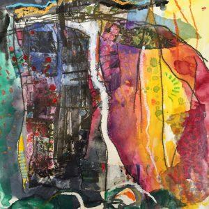 Waterfall, watercolour, Harriet-Brigdale, Artist