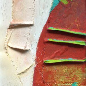 orange fabric movement, , Abstract, Harriet Brigdale, Artist