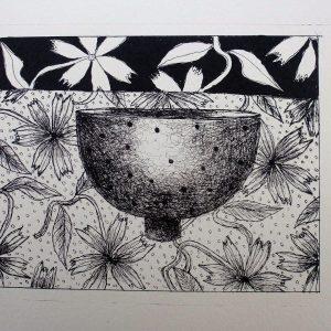 Small bowl, litho, Harriet Brigdale, Artist