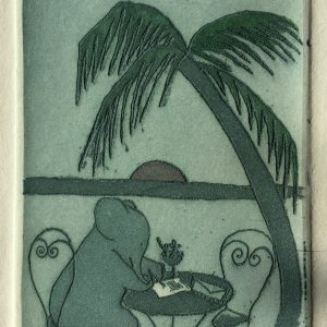 I just wish you were here, etching, Harriet Brigdale