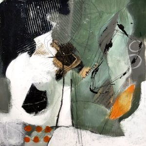 Green grey and gold, Abstract, Harriet Brigdale, Artist
