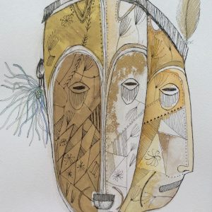 Double faced, Drawing, Harriet Brigdale, Artist