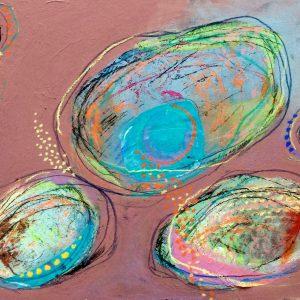 Pink Sand, Abstract, Harriet Brigdale, Artist