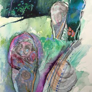 Standing stones, Drawing, Harriet Brigdale, Artist