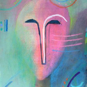 Lined face, Harriet Brigdale, artist