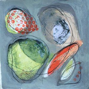 Linked shapes, Abstract, Harriet Brigdale, Artist