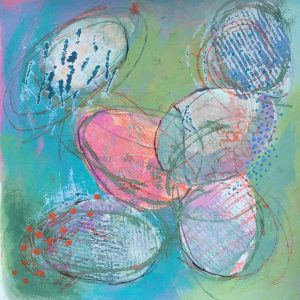 Soft coloured shapes, Abstract, Harriet Brigdale, Artist