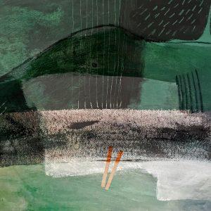 Orange sun, Abstract, Harriet Brigdale, Artist