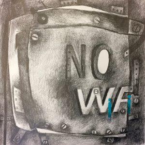 No WIFI, Drawing, Harriet Brigdale, Artist