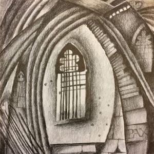 Church Window, Drawing, Harriet Brigdale, Artist
