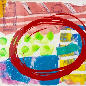 Elyptical Shape, Abstract, Harriet Brigdale, Artist