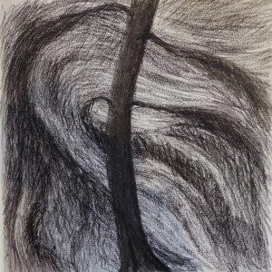 Windy Night, Drawing, Harriet Brigdale, Artist