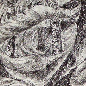 Totem Pole, Drawing, Harriet Brigdale, Artist