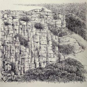 Yorkshire, litho, Harriet Brigdale, Artist