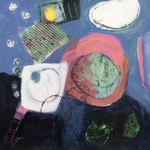 Dark blue half, Abstract, Harriet Brigdale, Artist