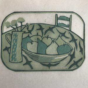 small tray. lino
