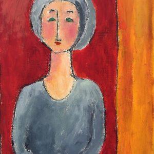 Grey Dress, Harriet Brigdale SGFA, artist
