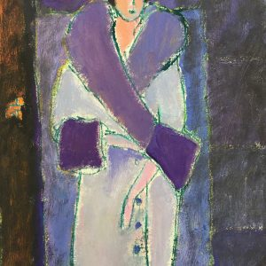 Pale Coat, oil painting, Harriet Brigdale SGFA, artist